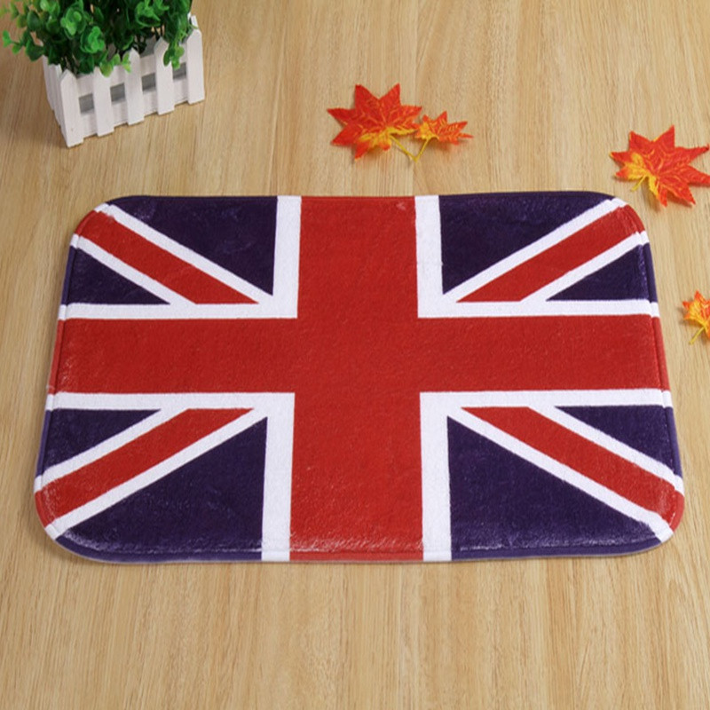 New American British Flag Rug Non Slip Coral FleeceMat Soft Durable Small  Geometric Carpet Easy