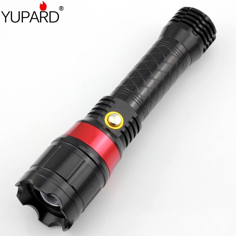 YUPARD Multifunction led Laser Flashlight With Red Color Laser Light Pointer  Q5 LED zoomable Flash Light  Tactical Hunting z30 new flashlight red green laser flashlight pointer light tactical hunting adjustable flash light multifunction lazer