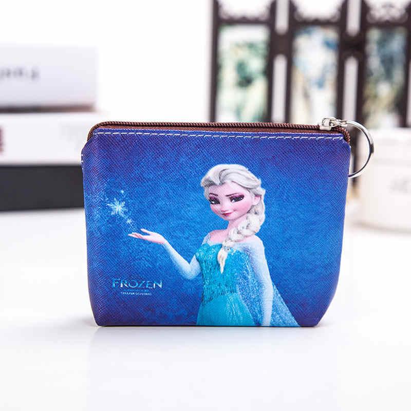 ¡Novedad de 2019! bolso de mano para niños con caricaturas de mickey mouse de Disney, bolsa de almacenamiento de PU, BILLETERA, regalos de princesa lsa Anna sophia