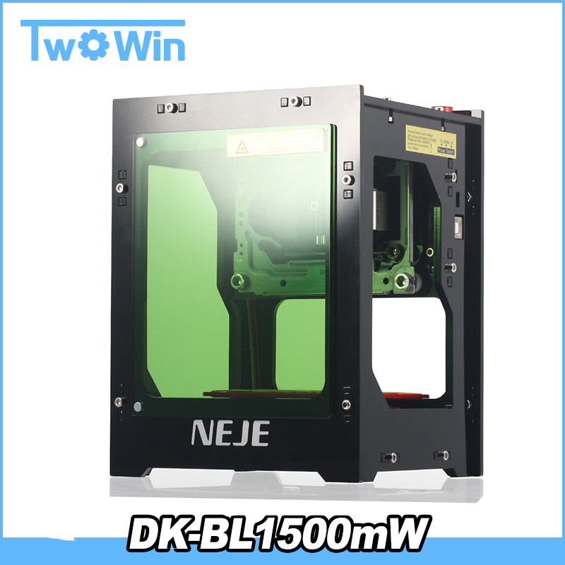 DK BL1500mW Mini DIY Laser Engraving Machine router laser cutter Wireless USB Laser Engraver Box Automatic