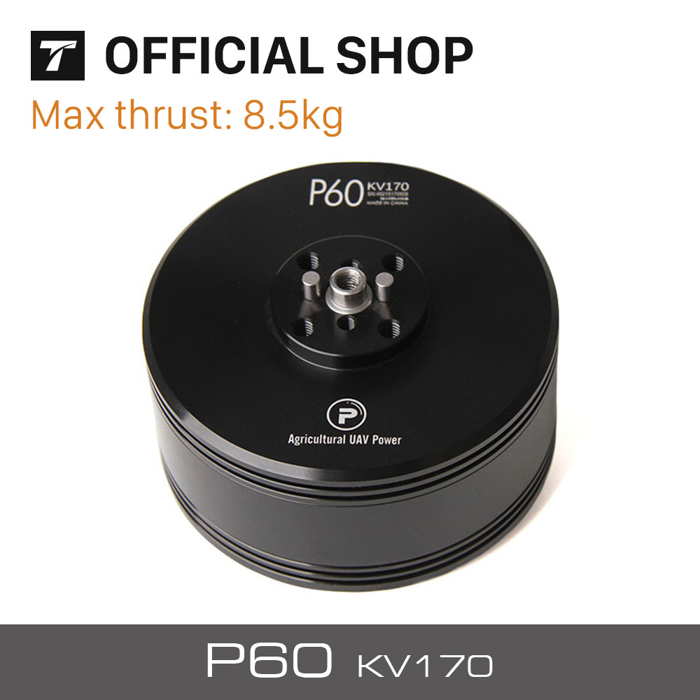 T-MOTOR Fational P60 170KV Of P-Series Brushless Motor for Agriculture Multicopter UAV Drones t motor series mn3515 400kv navigator series motor for quad hexa octa multicopter