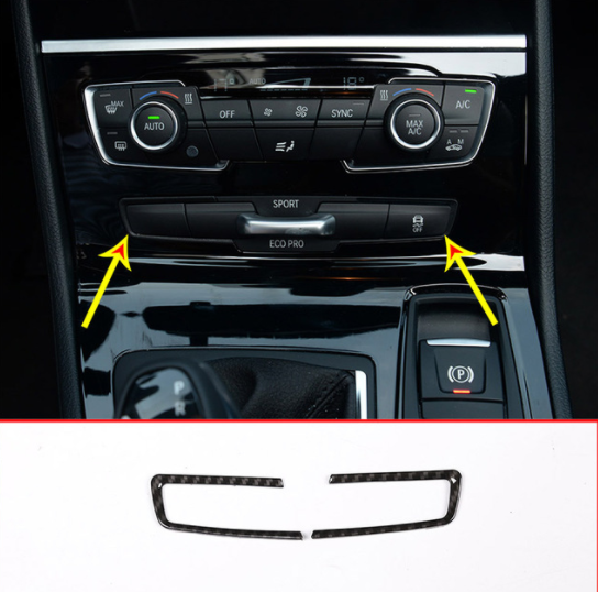 Carbon Fiber Center Console Mode Button Frame Cover Trim 2pcs For BMW 2 Series F45 F46 218i 2015 2018 Car Accessories|Interior Mouldings|   - AliExpress