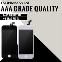 10PCS LOT 100 NO Dead Pixel Quality AAA For IPhone 5S LCD Display Touch Screen Digitizer