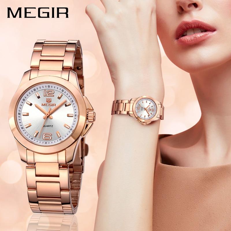 5afd442c937 MEGIR Moda Amantes Mulheres Relógios Relogio feminino Marca de Luxo Senhoras  Relógio Relógio Das Mulheres do relógio de Pulso de Quartzo Montre Femme  5006