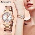 MEGIR Mode Frauen Uhren Relogio Feminino Marke Luxus Liebhaber Quarz Armbanduhr Uhr Frauen Montre Femme Damen Uhr 5006-in Damenuhren aus Uhren bei