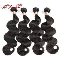 ALI ANNABELLE HAIR Brazilian Body Wave Human Hair Weave Bundles 4 Bundles Hair Extension 10-28 Inch 100% Remy Hair Weave
