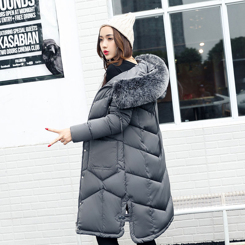 2017 Thick Long Winter Jacket Women Padded Cotton Coat Hooded Overcoat Parka Plus Size Wadded Casaco Feminino Female Jacket 818 new winter women jacket medium long thicken plus size outwear hooded wadded coat slim parka cotton padded jacket overcoat cm1039