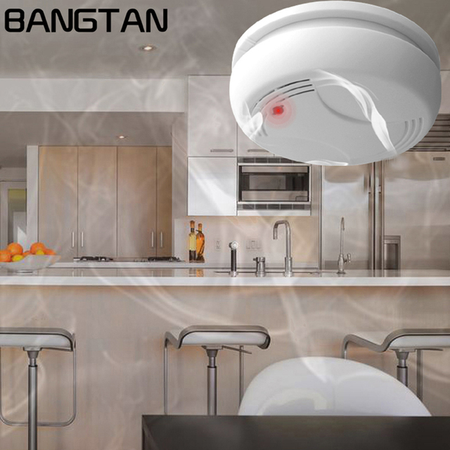 kitchen smoke detector bar furniture smart 433mhz wireless fire alarm sensor for home voice alert restaurant security guarding systems
