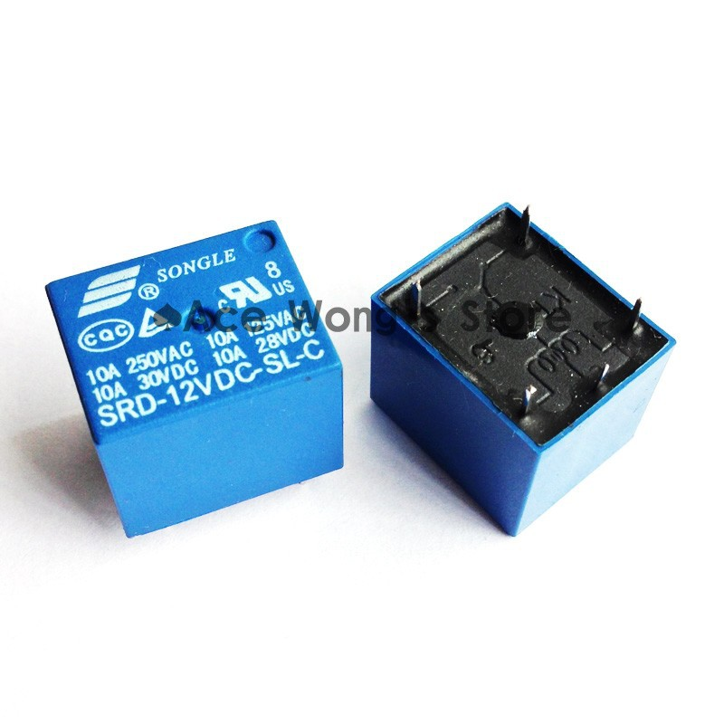 (50 PCS/LOT) 12V DC SONGLE Power Relay SRD-12VDC-SL-C PCB Type In stock 10pcs lot srd 5vdc sl c srd 5vdc srd 05v songle power relay dip 4 100