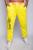 Colorido calças compridas homens 2016 nova moda Causual calças Cargo calças carta amarelo vermelho para o sexo masculino 8758