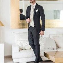 Barato negro Terno Masculino trajes de trajes para hombre traje de boda de  corte Slim americana de 2017 3 piezas traje de los ho. 98e33cac1a0
