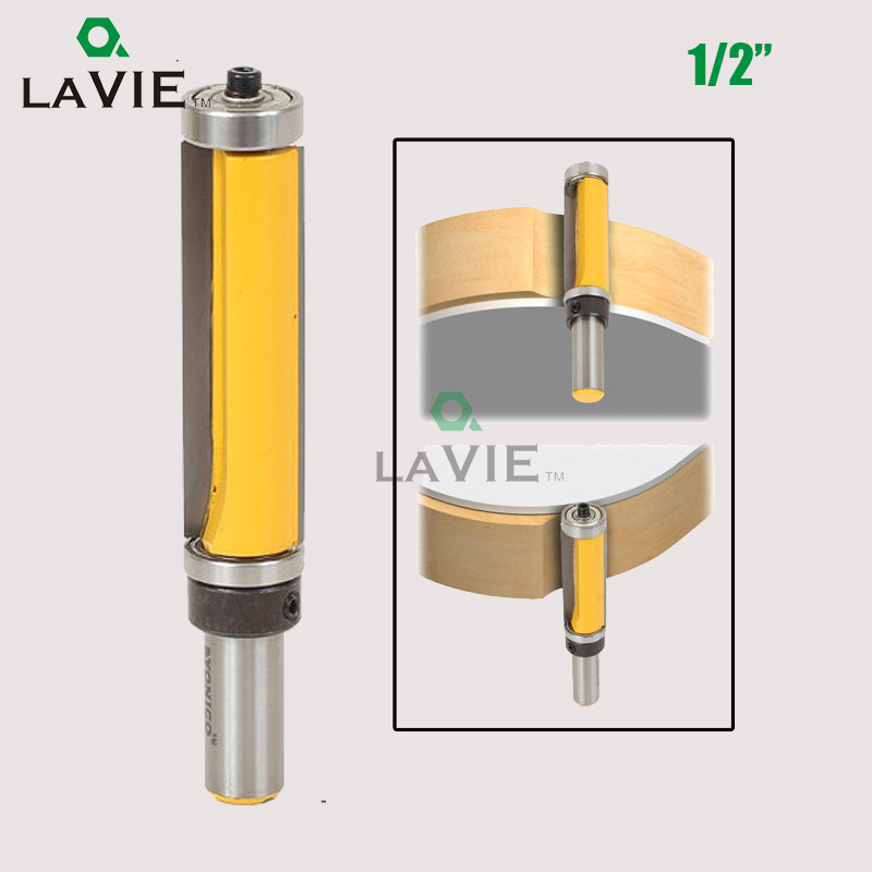 LA VIE 1pc 1/2 Shank Top & Bottom Bearing Flush Trim Pattern Router Bit Milling Cutter For Woodworking Tool MC03010 huhao 1pc bearing flush trim router bit