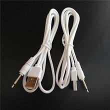 Mono USB2.5 1 m 2.5 USB linha de áudio USB 2.0 para DC 2.5mm cotovelo 2A linha de carregamento USB Jack plugue DC2.5mm Aux cabo de Áudio