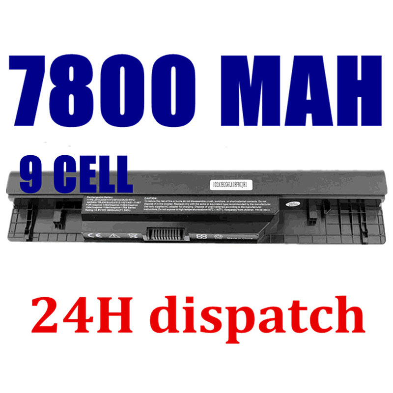 HSW 7800mah 9Cell Laptop battery 312-1021,5YRYV,9JJGJ,JKVC5 for DELL Inspiron 14,1464,15,1564,17,1764 bateria цена