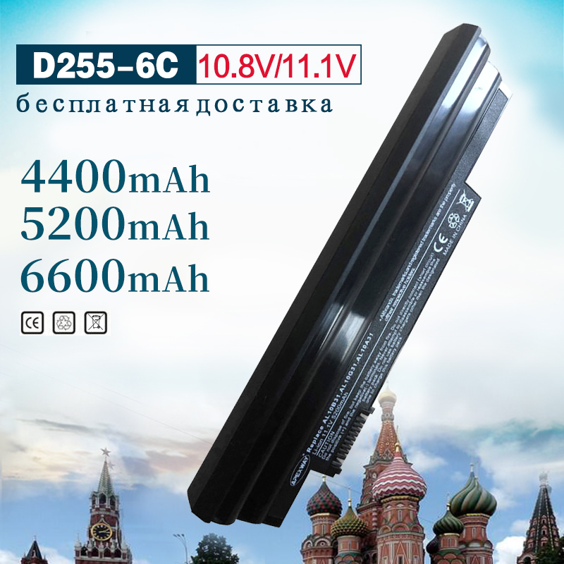 Golooloo 11.1V 4400MAH Laptop Battery For Acer AL10B31 AL10A31 ICR17/65 For Aspire One 522 722 AOD255 AOD260 D260 LC.BTP00.12