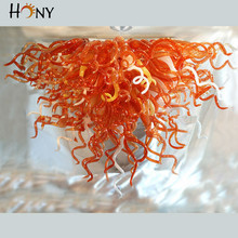 лучшая цена Free Shipping Hand Blown Murano Glass Chihuly Art Royal Modern Chandelier