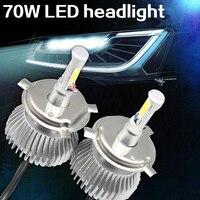 2 Pieces Lot H4 LED Headlight 100W Ultra Bright Car LED Headlights Bulb Head Lamp Light