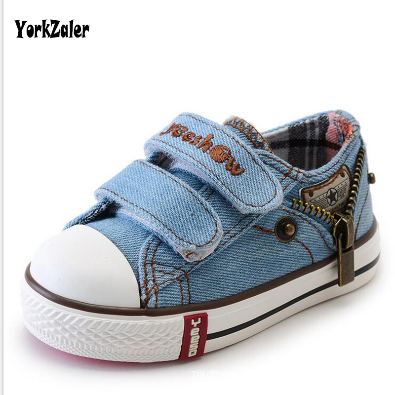 Kids Canvas Shoes Flats Infant 3 Color Denim Canvas Shoes For Kids Children Boys Outdoor Shoes Girls Designer Footwaer