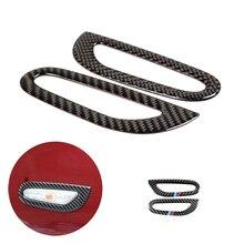 Para BMW Serie 3 E90 E92 E93 2005, 2006 2008, 2009, 2010, 2011, 2012 de fibra de carbono 2 uds Exterior del coche de señal de vuelta de luz cubierta de Marco