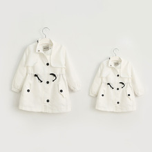 Baby girl s Fall trench Parental love letters printed girls long coat jacket