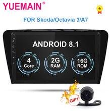 YUEMAIN Car DVD Multimedia Player Per Skoda Octavia A7 III/3 2014-2018 2din Android 8.1 Radio Auto di navigazione GPS Telecamera Posteriore