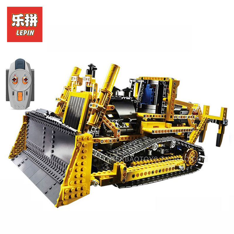 LEPIN 20008 Technic series 1384Pcs bulldozer Model Building  kits Blocks Bricks LegoINGlys 8275 toys for boys Children gifts free shipping lepin 21002 technic series mini cooper model building kits blocks bricks toys compatible with10242