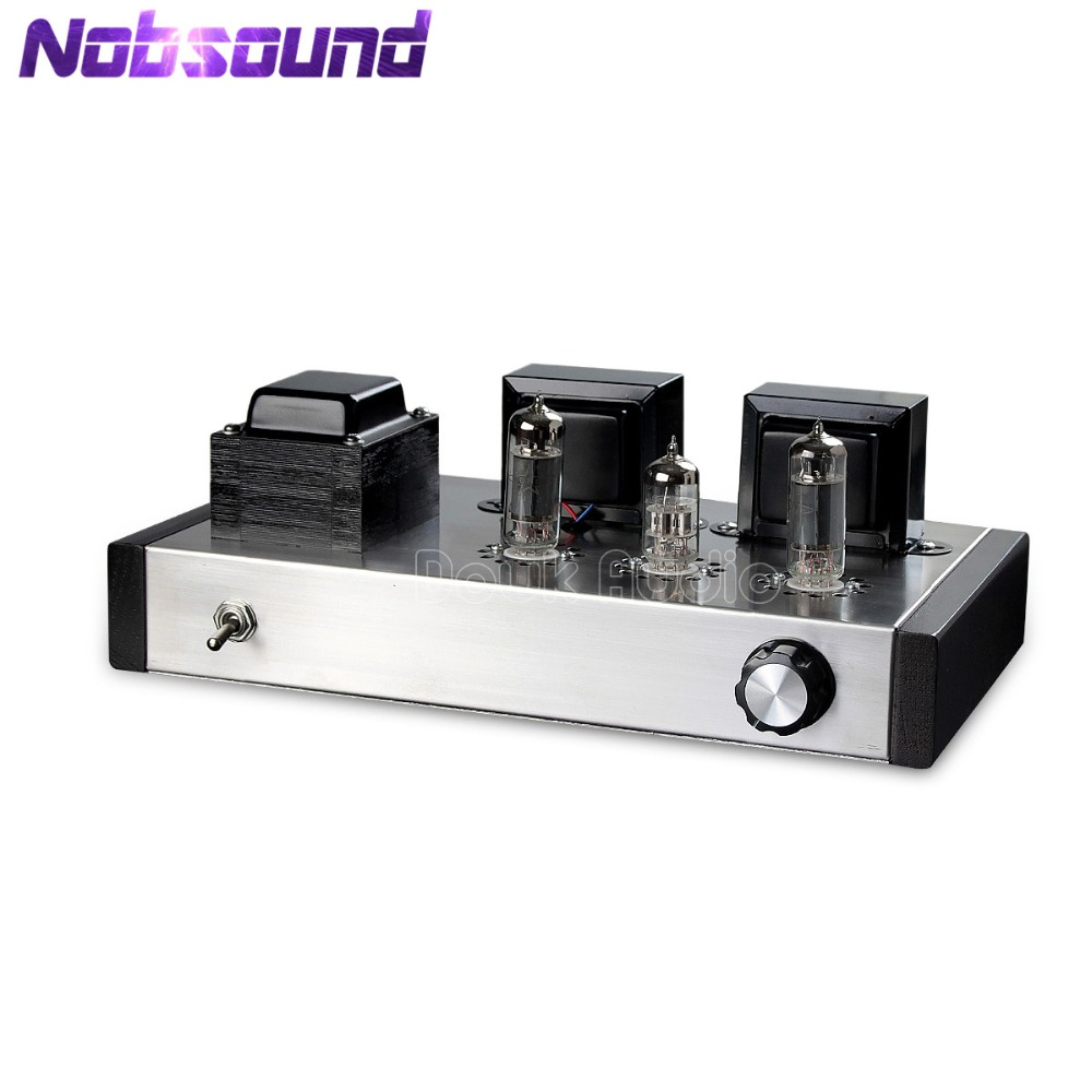 цена на Nobsound Latest 6N2+6P1 Vacuum Tube Amplifier Stereo Class A Integrated Power Amplifier 4W+4W Pure Handmade