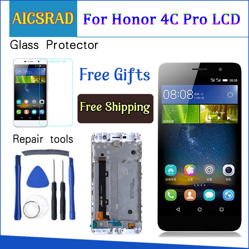 5.0'' Display For HUAWEI Honor 4C Pro TIT-L01 LCD Touch Screen With Frame For HUAWEI Y6 Pro Display Replacement