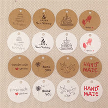 Feliz natal graças você coração amor pendurar etiquetas, diâmetro redondo 3cm artesanato papel cartão etiquetas multi padrão 100 pçs/lote