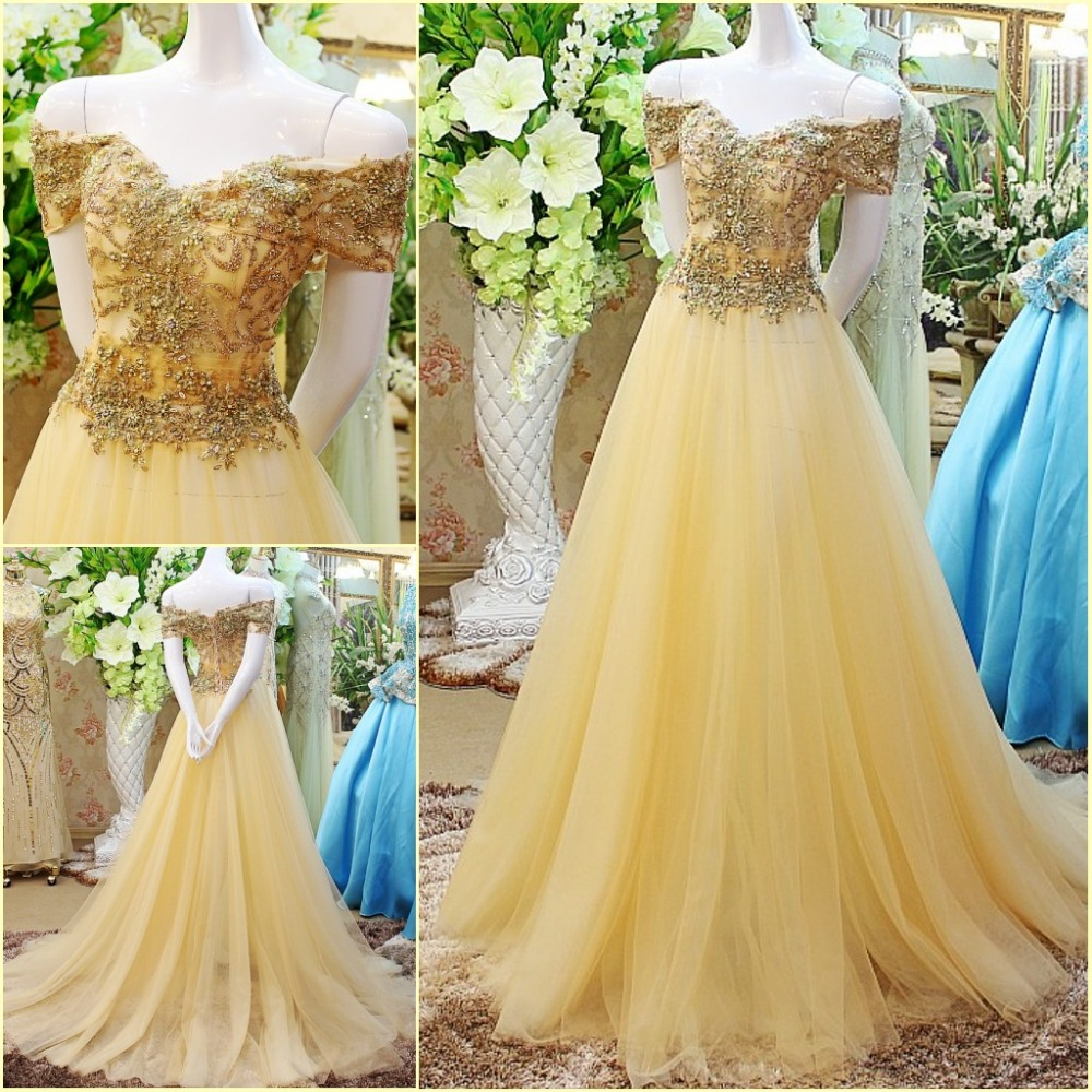 Compare prices on yellow wedding gowns online shopping for Aolisha wedding dress price