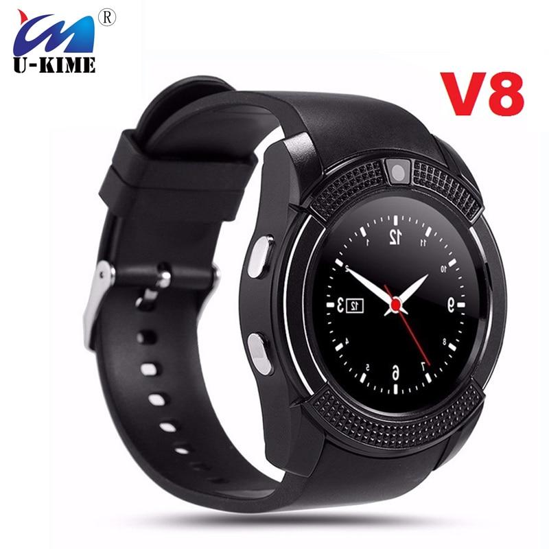 V8 Sports Round Bluetooth Smart Watch Men Anti-Lost ...