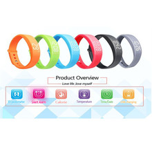 2016 New Smart Wristband W5 Smart Bracelet Pedometer Sleep Tracker Thermometer Smart band Fitness Tracker Smart watch