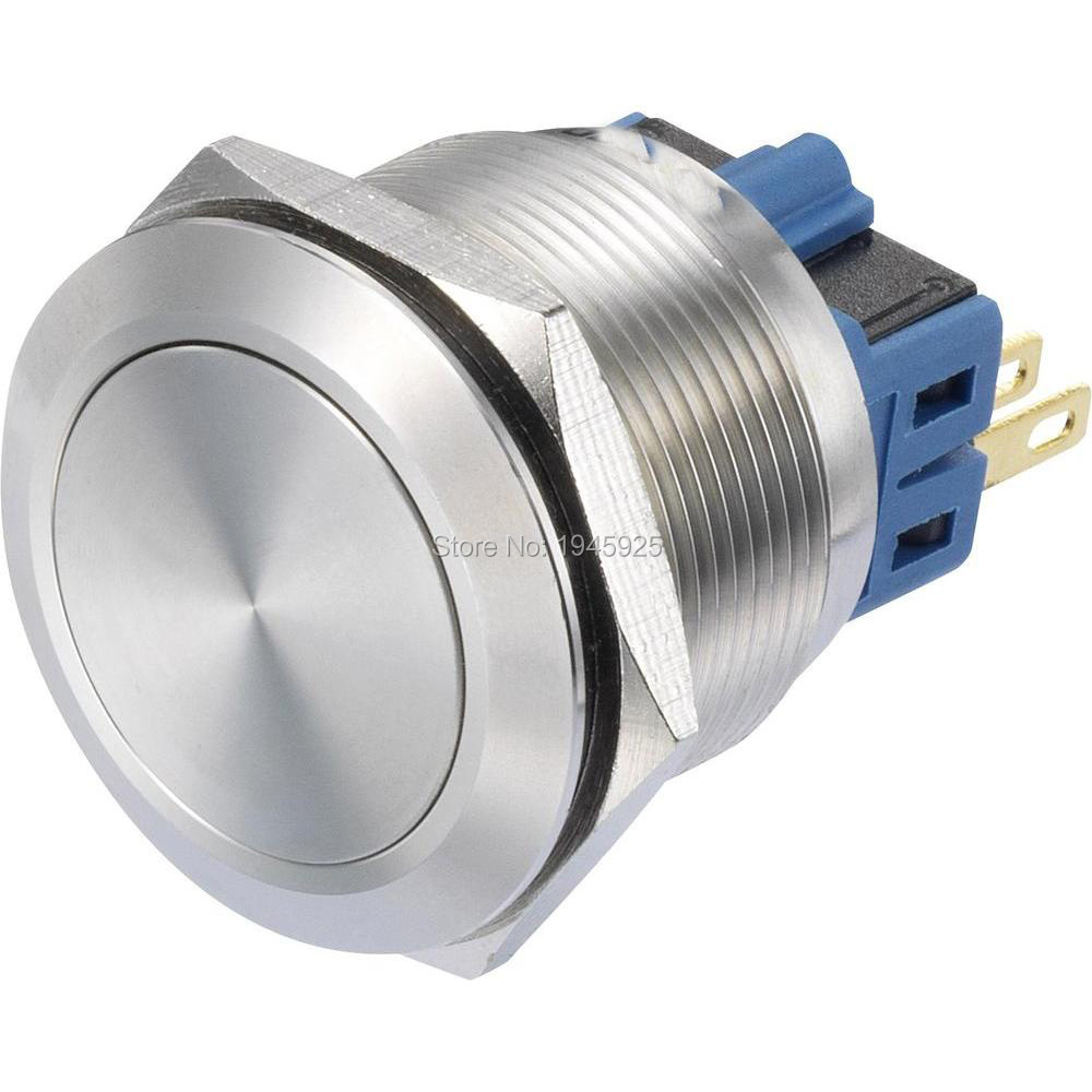 22mm Momentary Latching 1NO1NC Push Button Switch DPST Metal Industrial Boat Car Switch стоимость