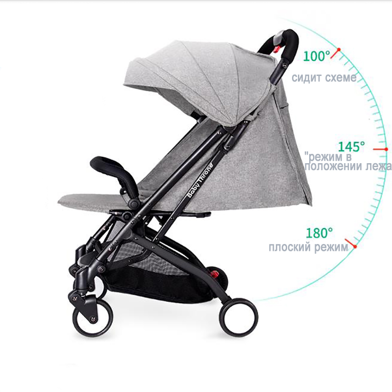 Babythrone Baby stroller Portable folding stroller can sit and lie down Widen and widen the four wheel shock absorbers pinturicchio centenarian four wheel baby stroller baby newborn buggiest shock absorbers dual