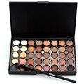 Pigmentos de color profesional 40 colores cálidos maquillaje sombra de ojos brillo mate impermeable maquillaje nude paleta de sombra de ojos con el cepillo