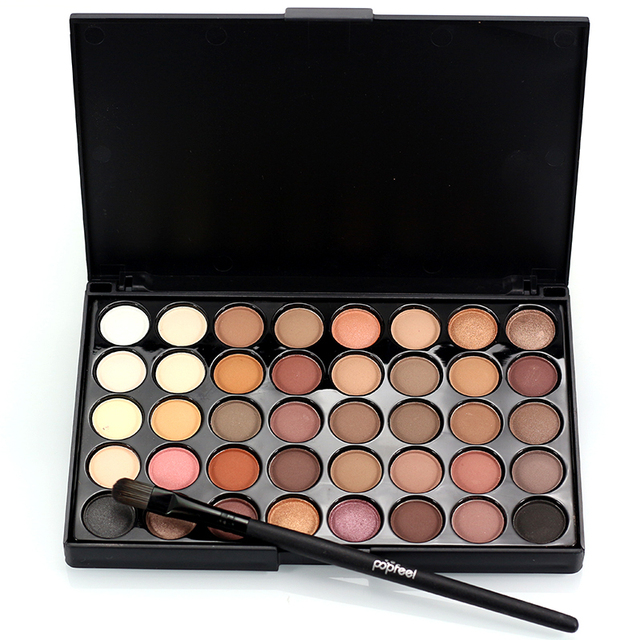 40 Colors Professional Glitter & Matte Eye Shadow Palette with Brush