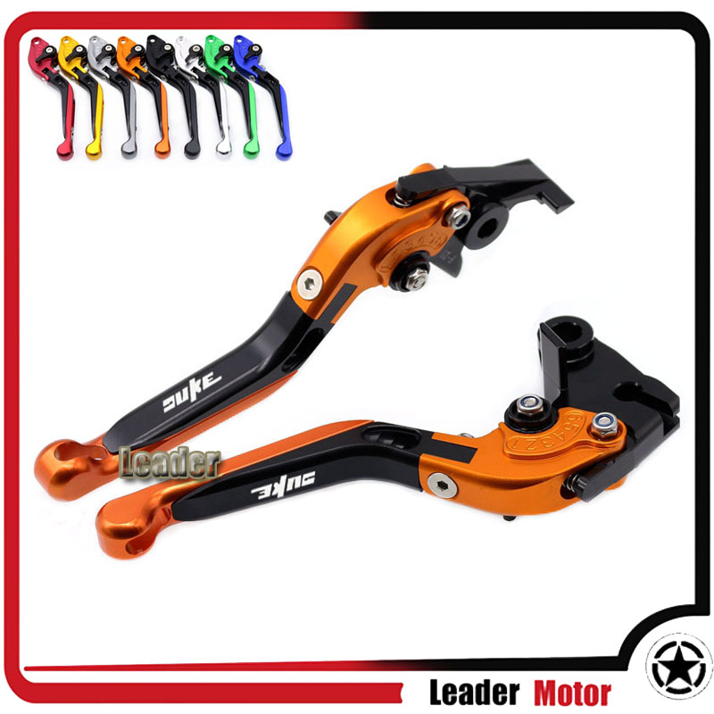 For KTM 390 DUKE/RC390 200 DUKE/RC200 RC 125/125 DUKE Motorcycle Accessories CNC Folding Extendable Brake Clutch Levers Orange hot sale motorcycle leather passenger pillion rear seat for ktm 390 duke black red orange