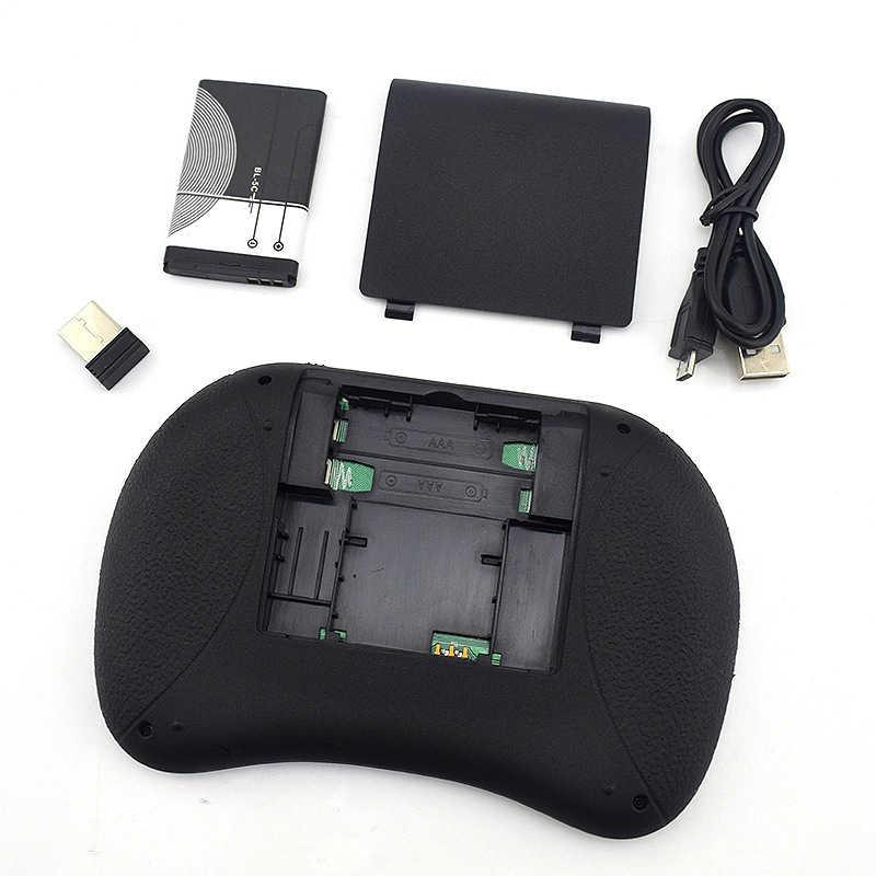 I8 ミニ 2.4 グラムワイヤレスキーボードタッチパッド色バックライトエアマウスロシア語スペイン語用 Xbox スマートテレビ PC PS3/PS4 HTPC