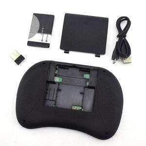 Image 5 - I8 Mini 2,4G Wireless Tastatur Touchpad Farbe Hintergrundbeleuchtung Air Mouse Russische Spanisch Arabisch Für Android TV Box Xbox Smart TV PC HTPC
