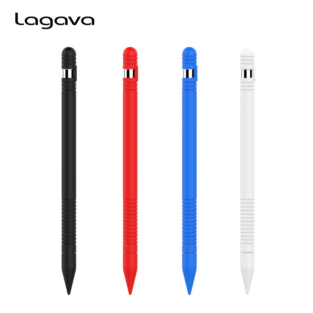 2nd Version Silicone Pen Full Case for Apple Pencil Protector Slim Sleeve for iPad Pro 12.9 10.5 9.7 inch Cap Tip Adapter Cover new for ipad pencil nib cover tablet touch pen kit soft silicone for apple pencil cap holder case cable adapter anti lost strap