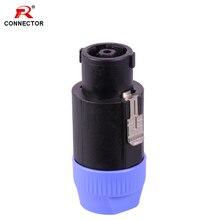 4pcs 8pins Speak Connector Speaker NL8 Designed in USA Loudspeaker Amplifier Adapter speak power Male Plug connector