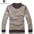 New Fashion Mens Pure Color Sweaters High Quality Men Wool Warm Cotton Casual Pullover Men Knit Cashmere Pullovers
