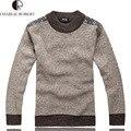 Nueva moda para hombre puras del Color de los hombres alta calidad de lana de algodón caliente suéter ocasional hombre de punto suéteres de cachemira