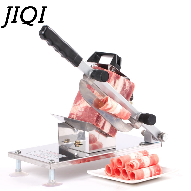 JIQI Manual Feed Meat Lamb Slicer Cutter Automatic Commercial Fat Cattle Mutton Roll Frozen Meat Grinder Beef Planing Machine meat slicer commercial automatic mutton roll slicer frozen meat fat cattle electric meat slicer planing meat machine