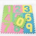 10 pcs Digital high-end ambientalmente amigável mat game pad bebê crianças jigsaw puzzle EVA esteiras de espuma tapete grosso 28*28*0.8 cm