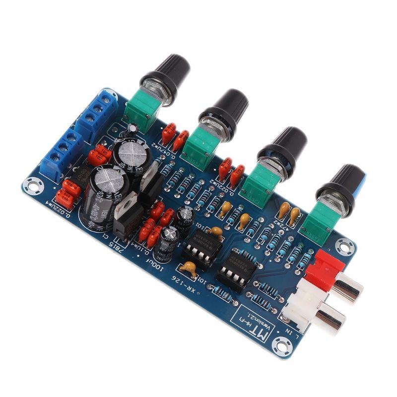 Dual AC 12V-18V NE5532 Preamplifier Volume Tone Treble Midrange Bass Control Board DIY Kits-#