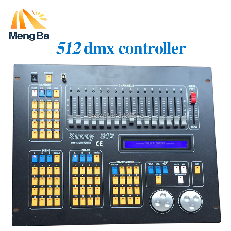 2017 Professional disco light stage lighting console controller DMX controller sunny 512 dmx controller 2016 original kingkong 1024s light controller 1024 dmx512 control 120pcs stage lights professional dj disco moving light console