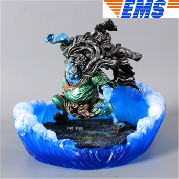 Japanese Manga ONE PIECE Statue Jinbe Seven Warlords Of The Sea Full-Length Portrait Resin Action Figure Collectible Model Toy