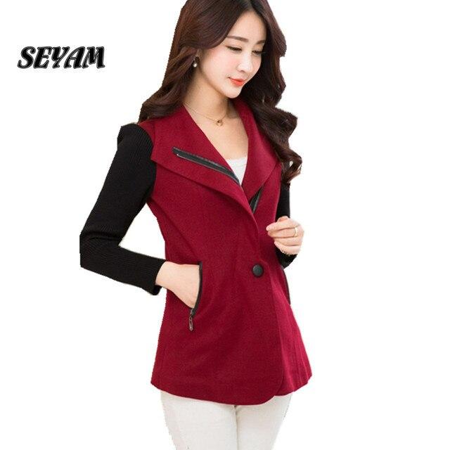 SEYAM Red Women Blazer Single Breasted L-4XL Plus Size Full Sleeve Slim Fit Female Elegant Office Business Jacket ow0254