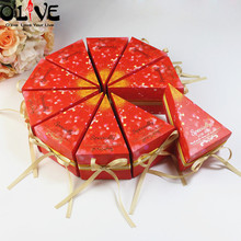 20 Pcs Triangles Wedding Candy Box Marble Birthday Cake Gift Packaging Cardboard Boxes Bonbonniere Chocolate Party Favors